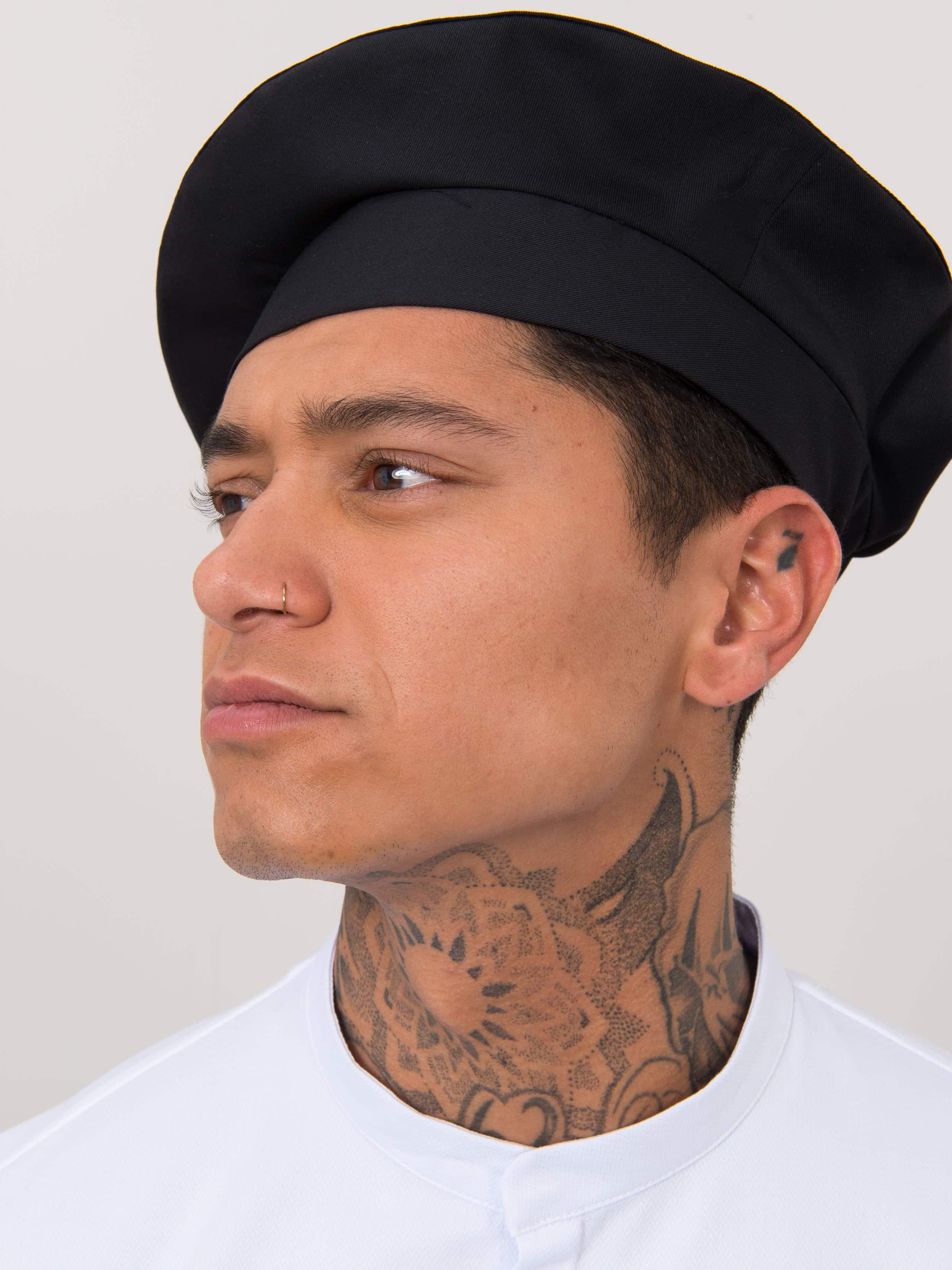 Chef Hat Baret Black