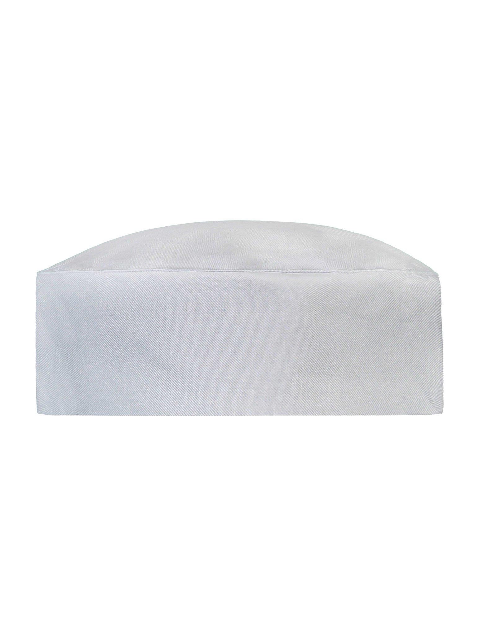 Chef Hat Fez White