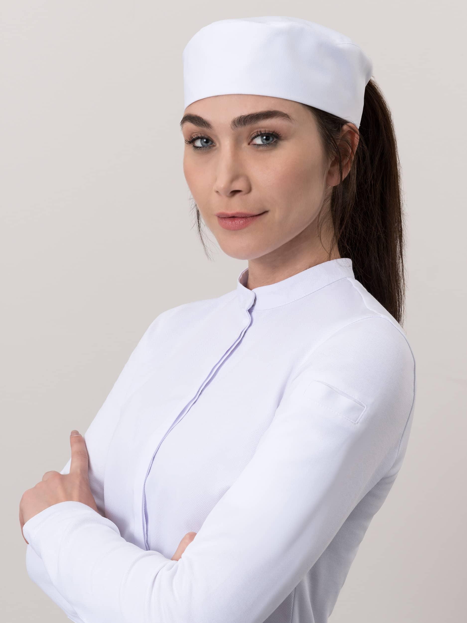 Chef Hat Fez Ladies White