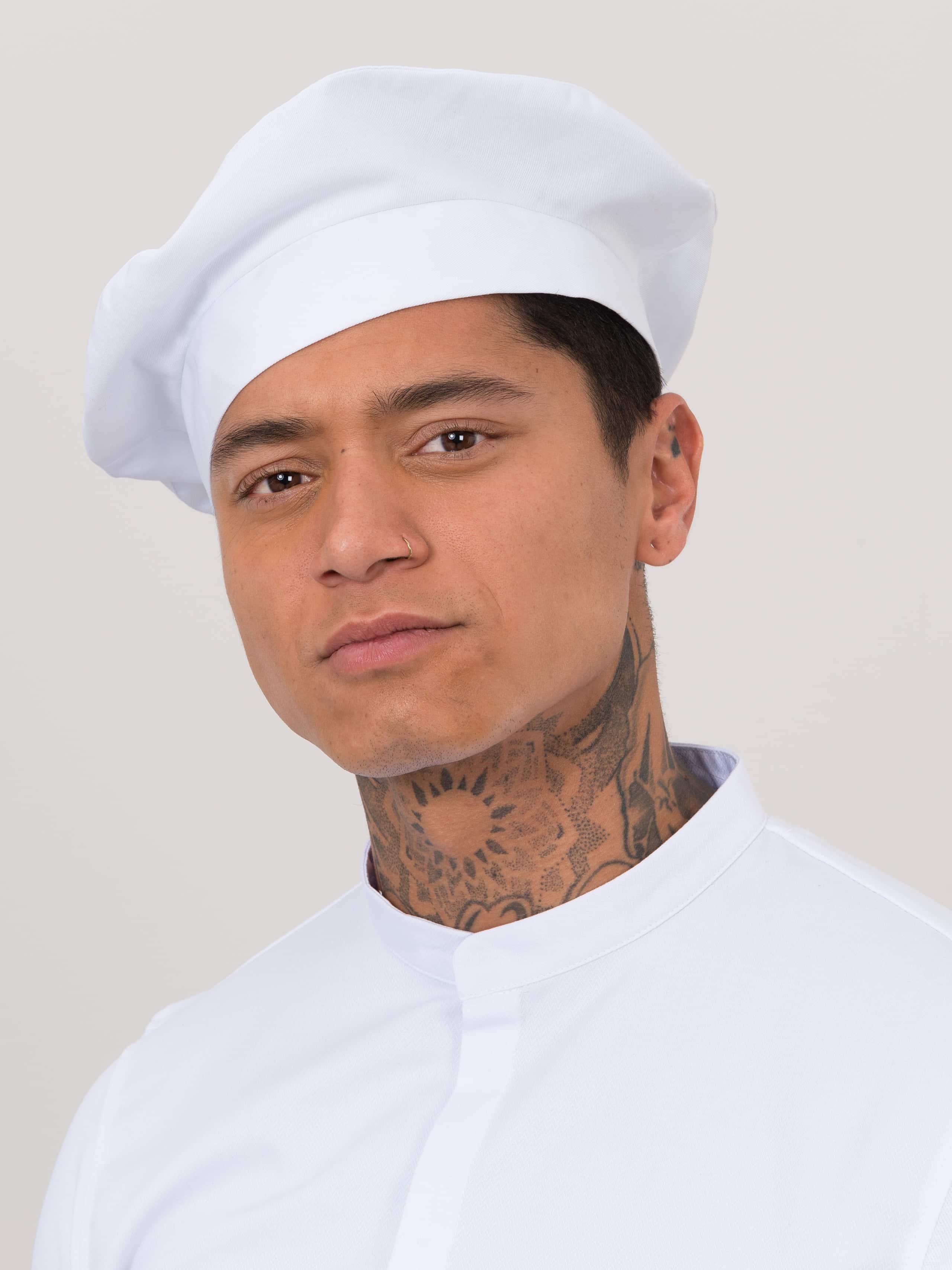Chef Hat Baret White