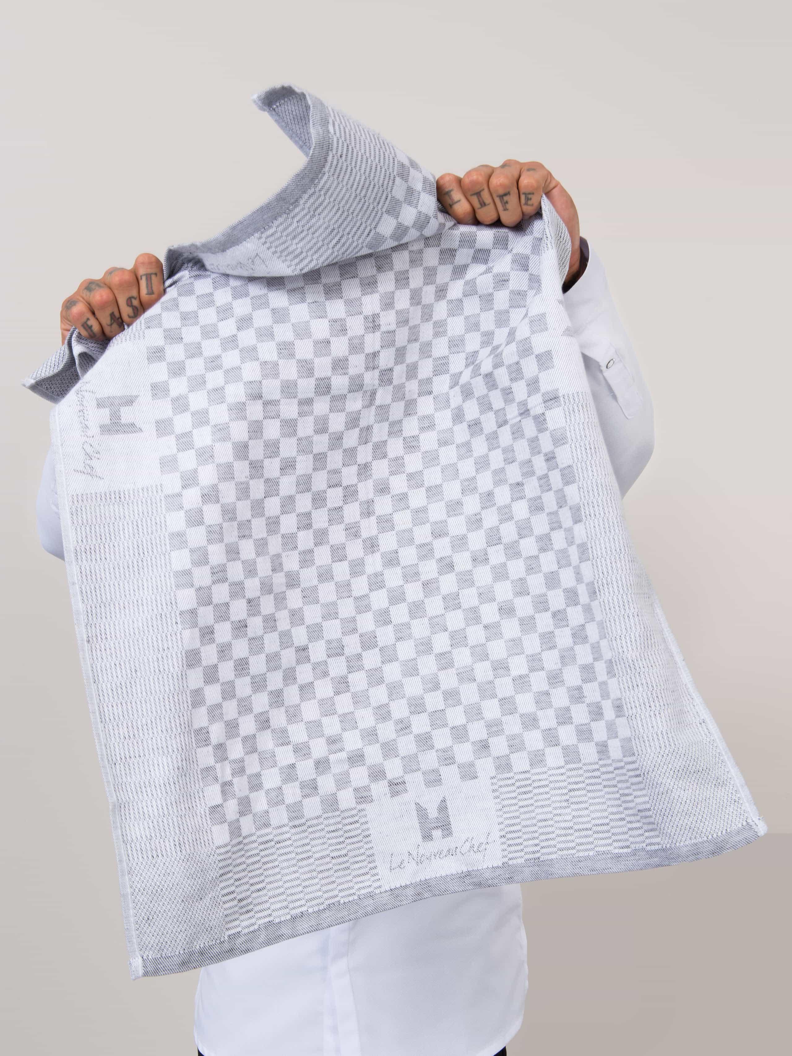Kitchen Towel LNC Grey-White